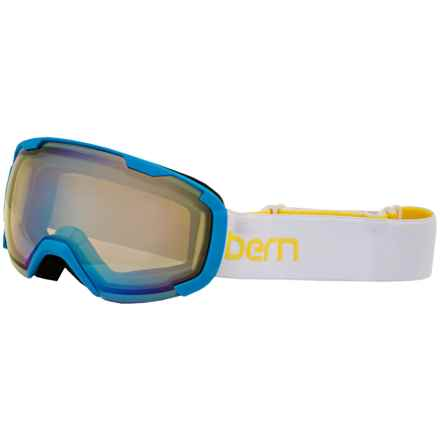 Bern Scout Ski Goggles (For Little and Big Kids) in White/Yellow/Yellow Light Mirror - Closeouts