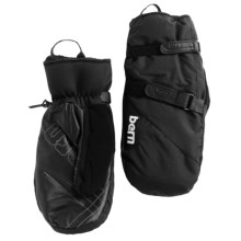 Bern Waterproof Mittens - Insulated (For Men and Women) in Black - Closeouts