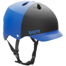 Bern Watts Cycling Helmet in Matte Cobalt Blue/Black 2 Tone - Closeouts