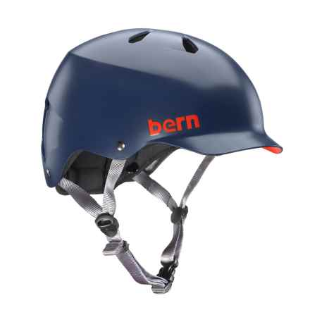 Bern Watts Cycling Helmet in Matte Navy Blue - Closeouts