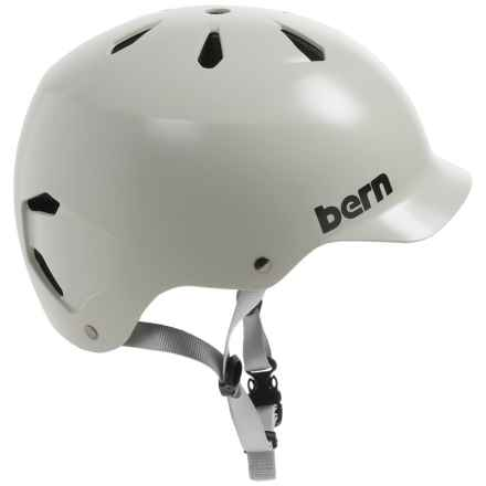 Bern Watts Cycling Helmet in Satin Light Grey - Closeouts