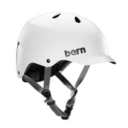 Bern Watts Cycling Helmet in Satin White - Closeouts