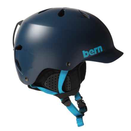Bern Watts EPS Ski Helmet in Satin Navy Blue/Black - Closeouts