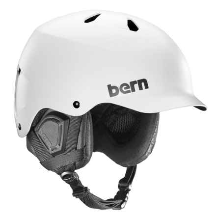 Bern Watts EPS Ski Helmet in Satin White - Closeouts