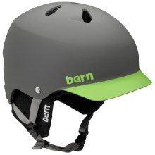Bern Watts EPS Ski Helmet - Removable Liner in Matte Grey/Green/Black Knit - Closeouts