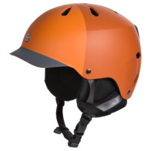 Bern Watts EPS Ski Helmet - Removable Liner in Matte Orange - Closeouts