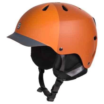 Bern Watts EPS Ski Helmet - Removable Liner in Matte Orange - Closeouts