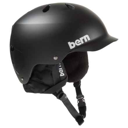 Bern Watts Ski Helmet - 8tracks® Audio, Winter Liner in Matte Black - Closeouts