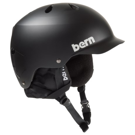 Bern Watts Ski Helmet - 8tracks® Audio, Winter Liner in Matte Black