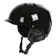 Bern Watts Ski Helmet with 8Tracks Audio (For Men) in Gloss Black - Closeouts