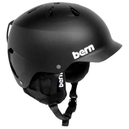 Bern Watts Ski Helmet with 8Tracks Audio (For Men) in Matte Black - Closeouts