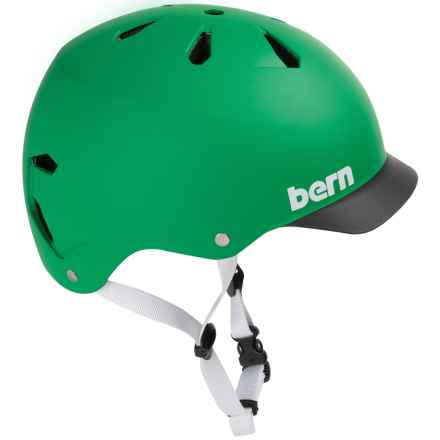 Bern Watts Thin Shell Summer EPS Bicycle Helmet (For Men) in Matte Green W/Black Brim - Closeouts