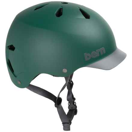 Bern Watts Thin Shell Summer EPS Bicycle Helmet (For Men) in Pine Green W/ Grey Brim - Closeouts