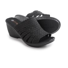 bernie mev. Kent Wedge Sandals (For Women) in Black - Closeouts
