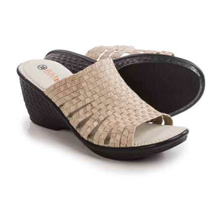 bernie mev. Kent Wedge Sandals (For Women) in Light Gold - Closeouts