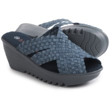 bernie mev. Lori Wedge Sandals (For Women) in Light Jeans - Closeouts