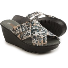 bernie mev. Lori Wedge Sandals (For Women) in Straw - Closeouts