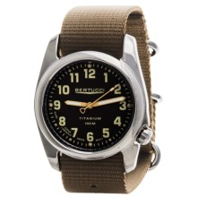 Bertucci A-2T High-Polish Titanium Field Watch - Gloss Burlap Dial (For Men) in Burlap/Dark Khaki - Closeouts