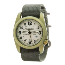Bertucci A-2T Olive Titanium Watch (For Men and Women) in Stone/Olive/Forest - Closeouts