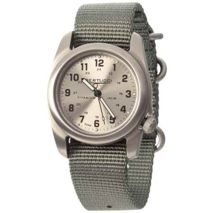 Bertucci A-2T Original Brushed Metal Watch - Woven Nylon Strap in Grey/Silver - Closeouts