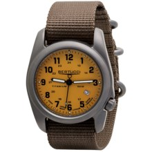 Bertucci A-2T Original Classic Matte Titanium Watch - Nylon Band (For Men) in Yellow/Khaki - Closeouts