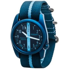 Bertucci A-2T Super Sport Watch - Nylon Strap (For Men and Women) in Monza Blue/Light Blue - Closeouts