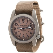 Bertucci A-2T Vintage Matte Titanium Watch (For Men and Women) in Khaki/Matte/Khaki - Closeouts