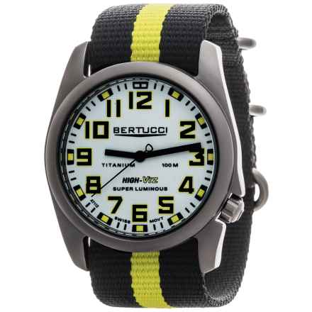Bertucci A-4T High-Viz Super Luminous Field Watch (For Men) in White/Black/Optic Yellow - Closeouts