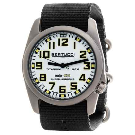 Bertucci A-4T High-Viz Super Luminous Field Watch (For Men) in White/Black - Closeouts