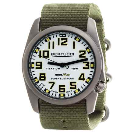 Bertucci A-4T High-Viz Super Luminous Field Watch (For Men) in White/Drab - Closeouts