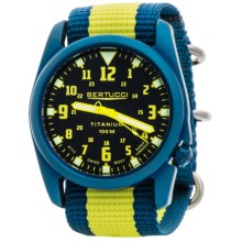 Bertucci A-4T Nautical Titanium Watch (For Men and Women) in Black/Yellow/Blue - Closeouts