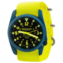 Bertucci A-4T Nautical Titanium Watch (For Men and Women) in Black/Yellow - Closeouts