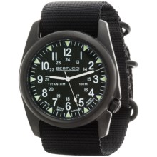 Bertucci A-4T Vintage Black ION Watch - Titanium  (For Men and Women) in Olive/Black/Black - Closeouts