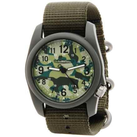 Bertucci Commando Camo Analog Watch - 40mm, Nylon Strap in Commando Camo/Defender Olive - Closeouts