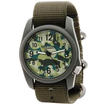 Bertucci Commando Camo Analog Watch - 40mm, Nylon Strap in Commando Camo/Defender Olive - Closeouts