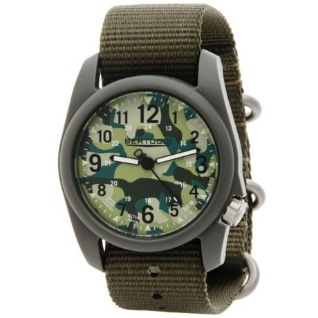 Bertucci Commando Camo Analog Watch - 40mm, Nylon Strap in Commando Camo/Defender Olive