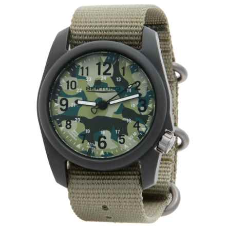 Bertucci Commando Camo Analog Watch - 40mm, Nylon Strap in Commando Camo/Patrol Green - Closeouts