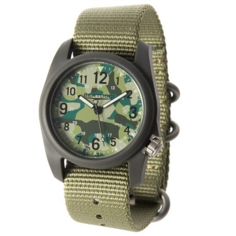 Bertucci Commando Camo Analog Watch - 40mm, Nylon Strap in Commando Camo/Petrol Green