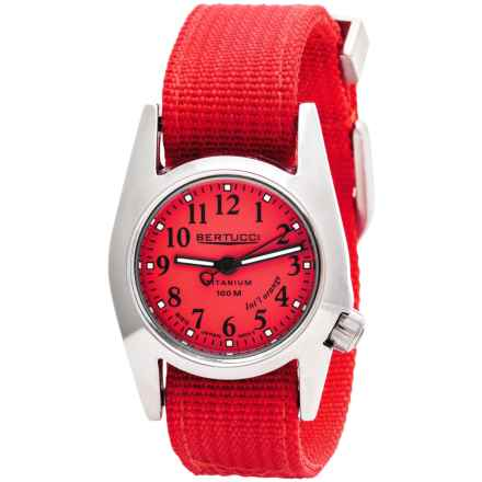 Bertucci M1-T ProColor Titanium Watch - DX3® Nylon Strap (For Women) in Orange/Orange - Closeouts