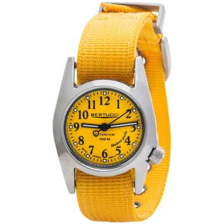 Bertucci M1-T ProColor Titanium Watch - DX3® Nylon Strap (For Women) in Yellow/Yellow - Closeouts