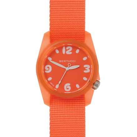Bertucci Sport Watch - Nylon Band (For Women) in Solar Orange - Closeouts