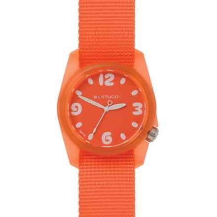 Bertucci Sport Watch - Nylon Band (For Women) in Solar Orange - Closeouts