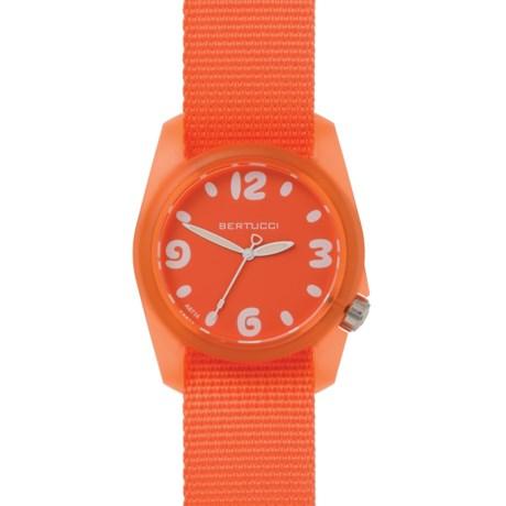 Bertucci Sport Watch - Nylon Band (For Women) in Solar Orange