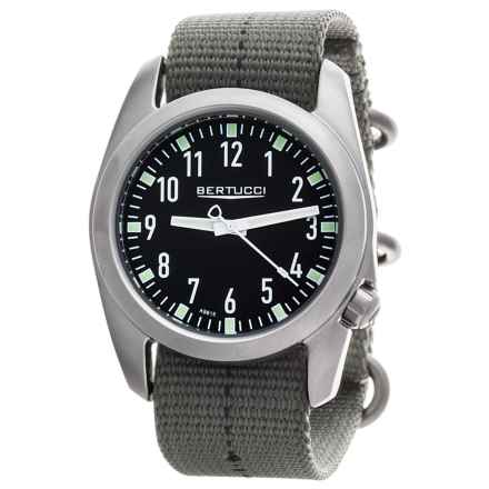 Bertucci Ventara Field Watch - Matte Stainless Steel (For Men) in Black/Drab - Closeouts