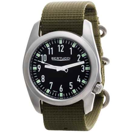 Bertucci Ventara Field Watch - Matte Stainless Steel (For Men) in Black/Olive - Closeouts
