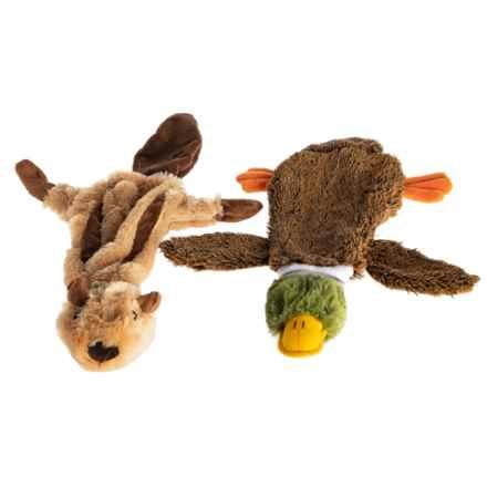 Best Pet 2-in-1 Fun Skin Dog Toy - 2-Piece, Medium in Squirrel/Duck - Closeouts