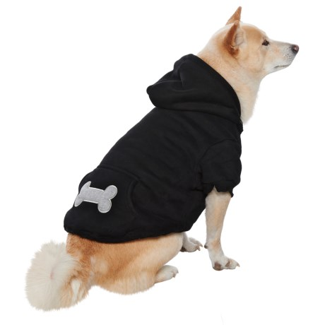 Best Pet Bone Print Pet Hoodie in Black