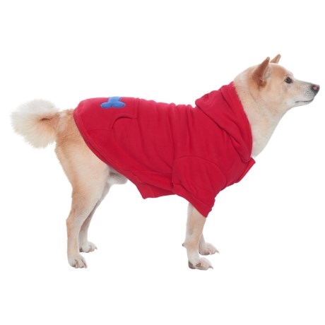 Best Pet Bone Print Pet Hoodie in Red