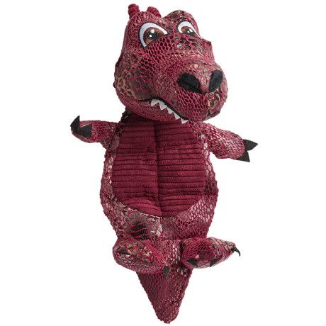 Best Pet Fire Dragon Plush Mat Dog Toy - Squeaker in See Photo
