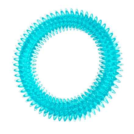 """Best Pet TPR Dental Ring Dog Toy - 6.5"""" in Blue - Closeouts"""